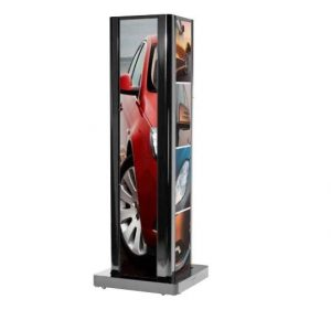 1 Sided Ultra Stretch Portrait Kiosk Enclosure For Lg 86bh5c Signage Displays